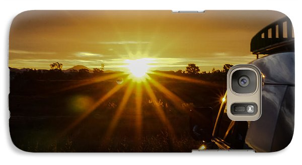 Galaxy Case featuring the photograph Sunrise And My Ride by Jeremy McKay