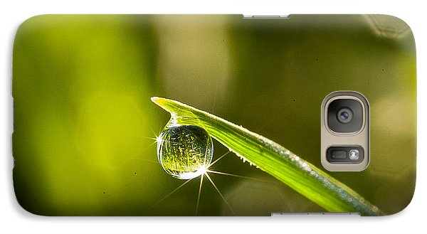 Galaxy Case featuring the photograph Sunrise In A Dewdrop by Monte Stevens