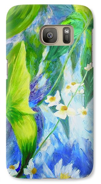 Galaxy Case featuring the painting Sunrise In My Garden by Irene Hurdle
