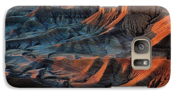 Galaxy Case featuring the photograph Sunrise In The Badlands. by Johnny Adolphson