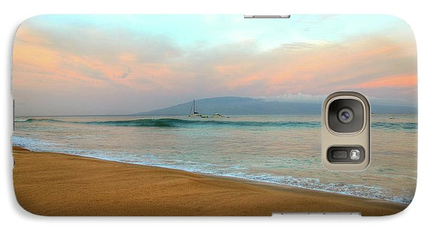 Galaxy Case featuring the photograph Sunrise On Ka'anapali by Kelly Wade