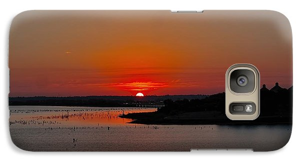 Galaxy Case featuring the photograph Sunrise On Lake Ray Hubbard by Diana Mary Sharpton