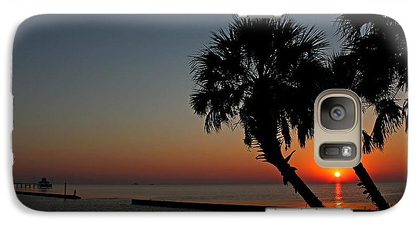 Galaxy Case featuring the photograph Sunrise On Pleasure Island by Judy Vincent