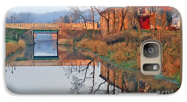 Galaxy Case featuring the photograph Sunrise On The I And  M Canal by Paula Guttilla