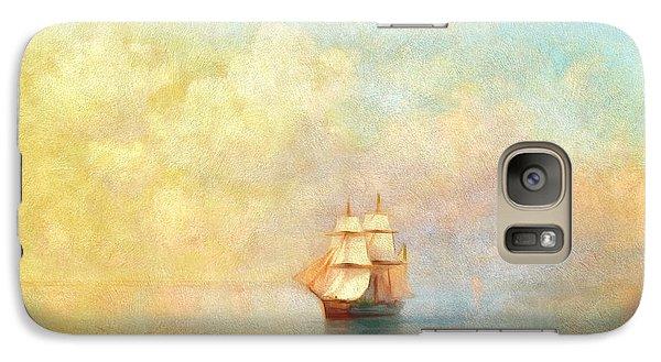 Boat Galaxy S7 Case - Sunrise On The Sea by Georgiana Romanovna