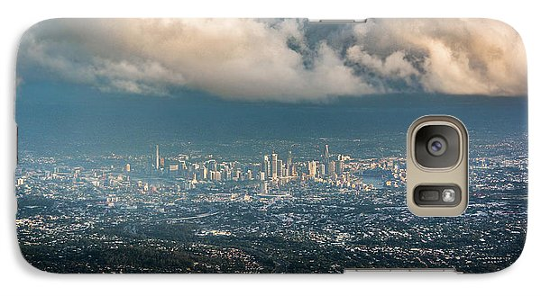 Galaxy Case featuring the photograph Sunrise Over A Cloudy Brisbane by Parker Cunningham