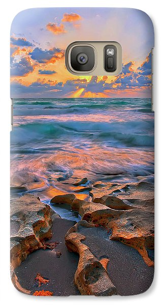 Galaxy Case featuring the photograph Sunrise Over Carlin Park In Jupiter Florida by Justin Kelefas