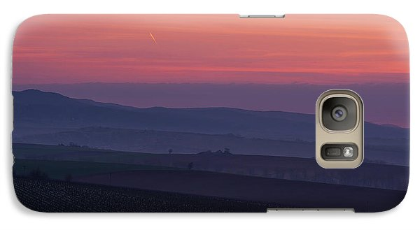 Galaxy Case featuring the photograph Sunrise Over Hills Of Moravian Tuscany by Jenny Rainbow