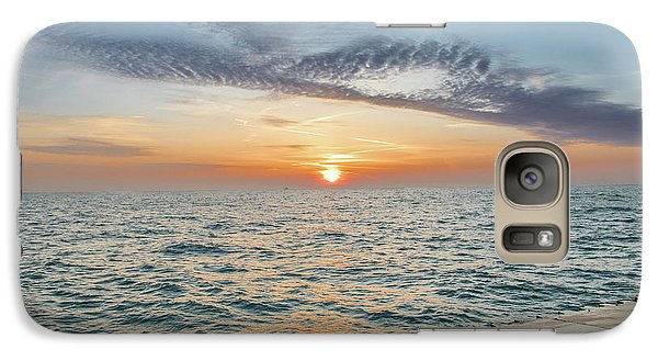 Galaxy Case featuring the photograph Sunrise Over Lake Michigan by Peter Ciro