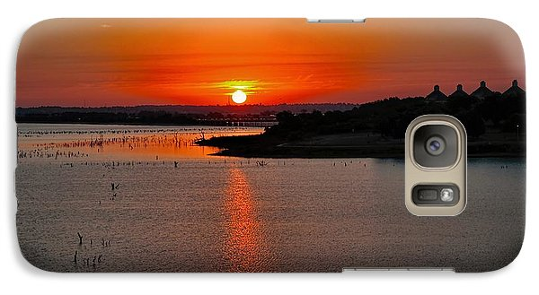 Galaxy Case featuring the photograph Sunrise Over Lake Ray Hubbard by Diana Mary Sharpton