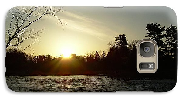 Galaxy Case featuring the photograph Sunrise Over Mississippi River by Kent Lorentzen