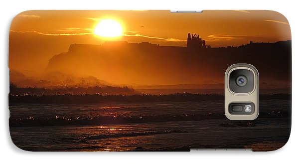 Galaxy Case featuring the photograph Sunrise Over Sandsend Beach by RKAB Works