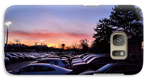 Galaxy Case featuring the photograph Sunrise Over The Car Lot by Jeanette O'Toole