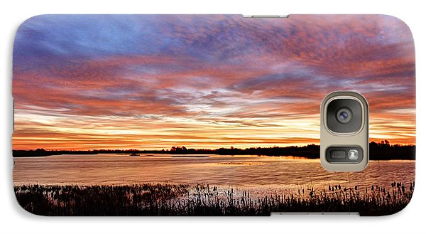 Galaxy Case featuring the photograph Sunrise Over The Marsh by Larry Ricker