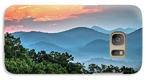 Galaxy Case featuring the photograph Sunrise Over The Smoky's by Douglas Stucky