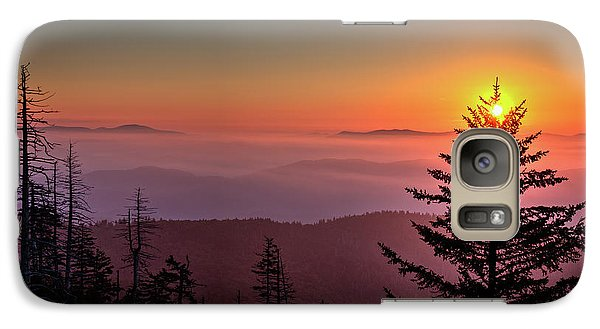 Galaxy Case featuring the photograph Sunrise Over The Smoky's IIi by Douglas Stucky