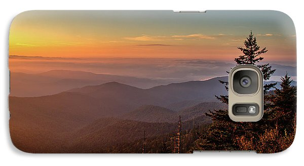 Galaxy Case featuring the photograph Sunrise Over The Smoky's V by Douglas Stucky