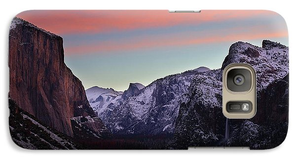 Galaxy Case featuring the photograph Sunrise Over Yosemite Valley In Winter by Jetson Nguyen