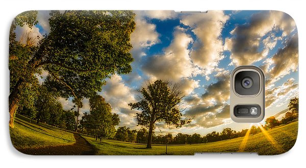 Galaxy Case featuring the photograph Sunrise Path At Meadows Edge by Chris Bordeleau