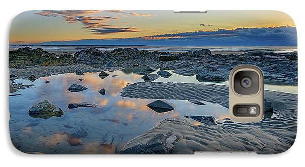 Galaxy Case featuring the photograph Sunrise Reflections On Wells Beach by Rick Berk
