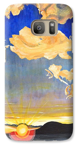 Galaxy Case featuring the painting Sunset #6 by Donna Blossom