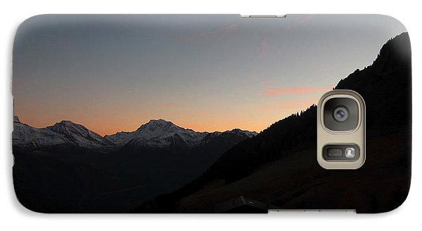 Sunset Afterglow In The Mountains Galaxy S7 Case
