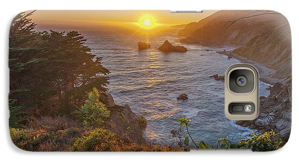Galaxy Case featuring the photograph Sunset Along Highway 1 Big Sur California by Scott McGuire
