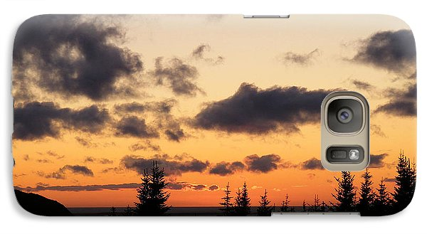 Galaxy Case featuring the photograph Sunset And Dark Clouds by Barbara Griffin
