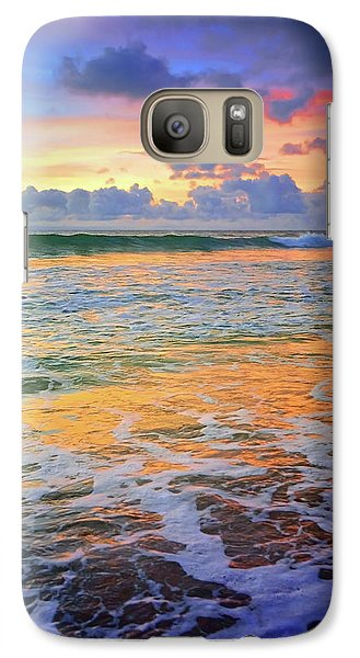Galaxy Case featuring the photograph Sunset And Sea Foam by Tara Turner