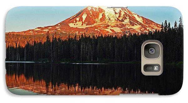 Sunset And Sunrise Mt Adams Galaxy S7 Case