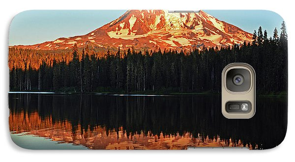 Galaxy Case featuring the photograph Sunset And Sunrise Mt Adams by Jack Moskovita