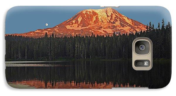Sunset And Moonrise At Takhlakh Lake Galaxy S7 Case