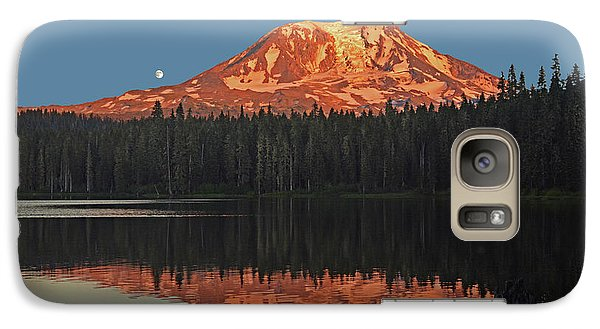 Galaxy Case featuring the photograph Sunset And Moonrise At Takhlakh Lake by Jack Moskovita