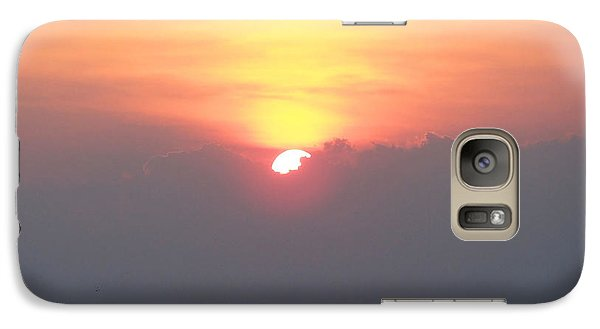 Galaxy Case featuring the photograph Sunset And The Storm by Sandi OReilly