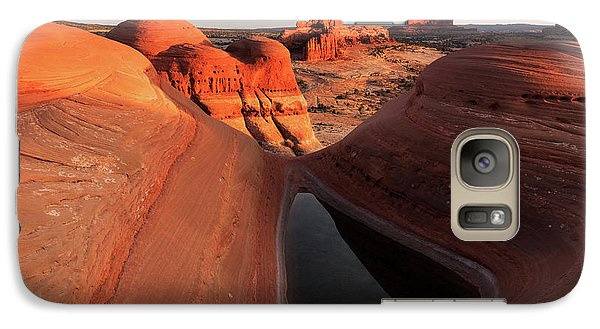 Galaxy Case featuring the photograph Sunset At A Desert Pool, Moab. by Johnny Adolphson