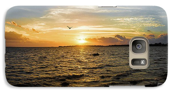 Galaxy Case featuring the photograph Sunset At Cedar Key by Rebecca Hiatt