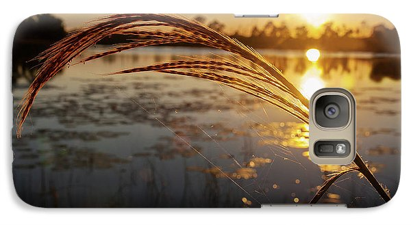 Galaxy Case featuring the photograph Sunset At Gator Hole 2 by Arthur Dodd