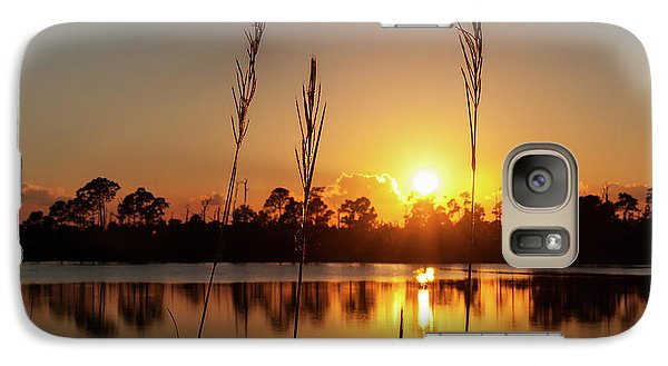 Galaxy Case featuring the photograph Sunset At Gator Hole 3 by Arthur Dodd