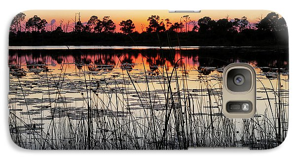 Galaxy Case featuring the photograph Sunset At Gator Hole by Arthur Dodd