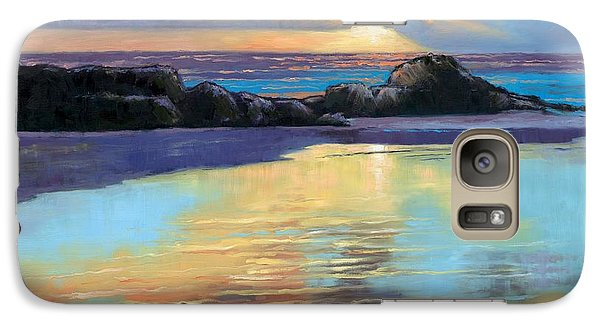 Galaxy Case featuring the painting Sunset At Havika Beach by Janet King