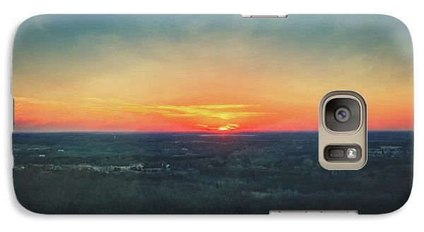 Galaxy Case featuring the photograph Sunset At Lapham Peak #3 - Wisconsin by Jennifer Rondinelli Reilly - Fine Art Photography