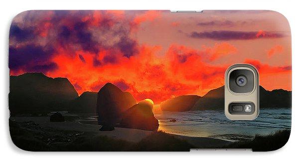 Sunset At Oregon Beach Galaxy S7 Case
