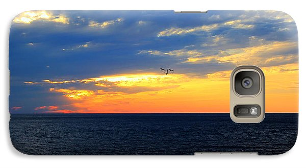 Galaxy Case featuring the photograph Sunset At Sail Away by Shelley Neff