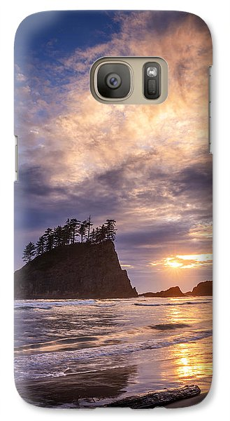 Galaxy Case featuring the photograph Sunset At Second Beach by Dan Mihai