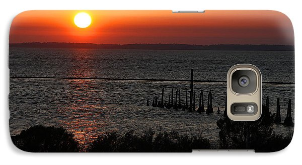 Galaxy Case featuring the photograph Sunset At St.marks Nwf by Barbara Bowen