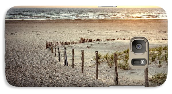 Galaxy Case featuring the photograph Sunset At The Beach by Hannes Cmarits