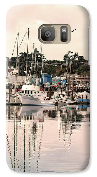 Galaxy Case featuring the photograph Sunset At The Marina by Diane Schuster