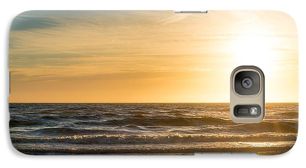 Galaxy Case featuring the photograph sunset at the North Sea by Hannes Cmarits