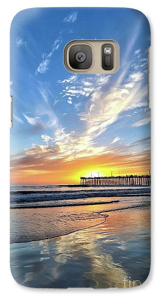 Galaxy Case featuring the photograph Sunset At The Pismo Beach Pier by Vivian Krug Cotton