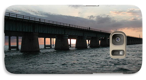 Galaxy Case featuring the photograph Sunset At The Seven Mile Bridge by Nancy Taylor